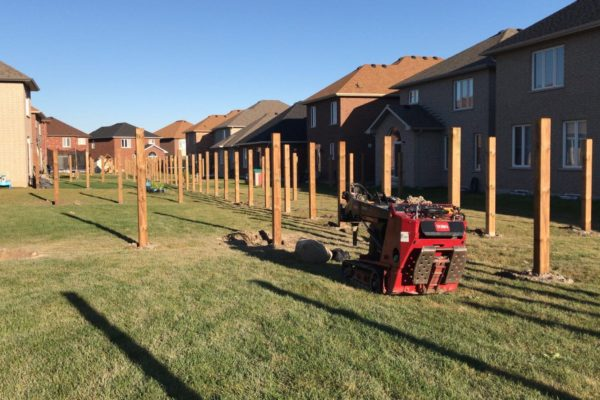SETTING FENCE POSTS